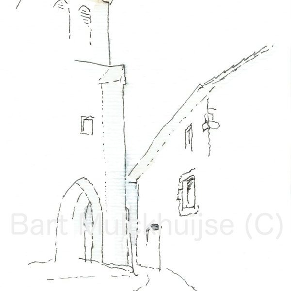 ink-drawing-aquarel-church-St-Jean
