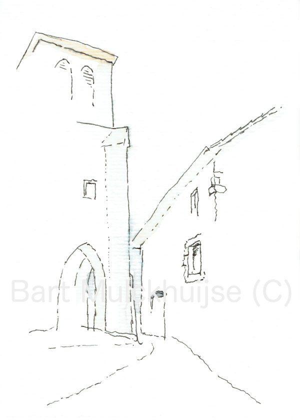 ink-drawing-aquarel-church-St-Jean