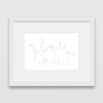 drawing-castle-de-haar-holland-frame