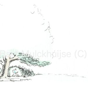 ink-aquarel-drawing-nut-tree