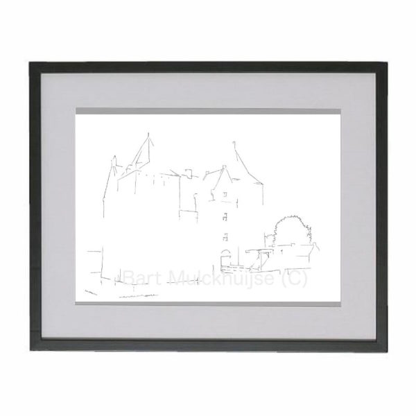 drawing-castle-loevestein-holland