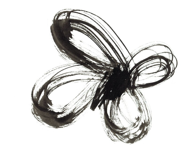 butterfly-paintbrush-drawing-indian-ink