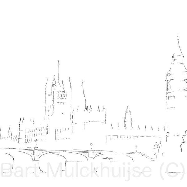 drawing-westminster-big-ben-london-bart-mulckhuijse