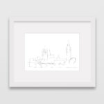 drawing-westminster-big-ben-london-frame