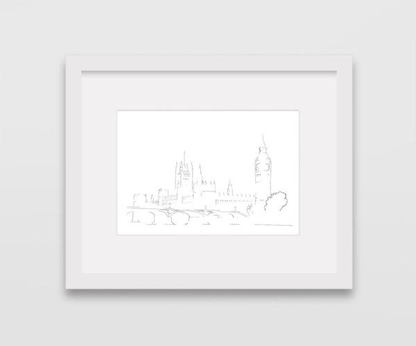 drawing-westminster-big-ben-london-frame
