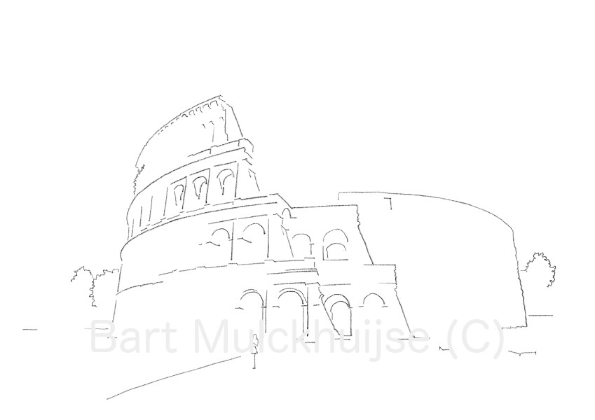 drawing-colosseum-rome-italy-bart-mulckhuijse