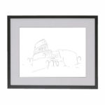 drawing-colosseum-rome-italy-frame
