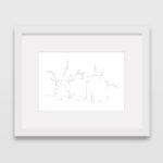 drawing-castle-de-haar-holland-frame
