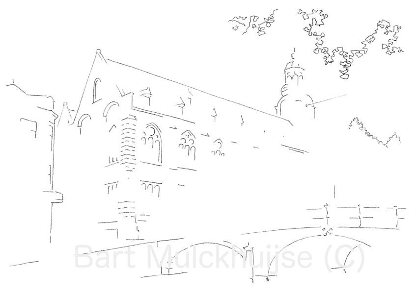 academy-building-leiden-university-drawing